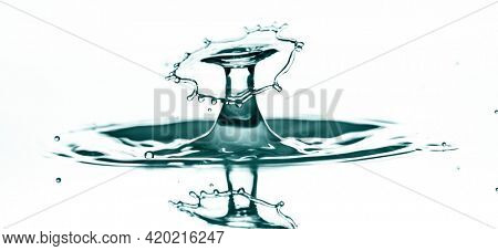 Drop splash collision splash of the falling drops of water, collision drops
