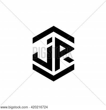 J R Letter Design Logo Vector. J R Letter Logo Business