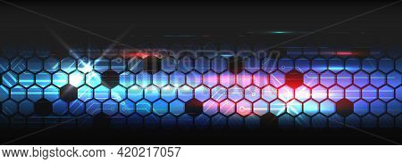 Wide Cyber Security Internet And Networking Concept. Abstract Global Sci Fi Concept. Digital Interne