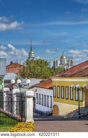 Spasskaya Street In Vladimir Old Center, Russia