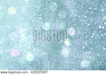 Blue shiny glitter textured background wallpaper