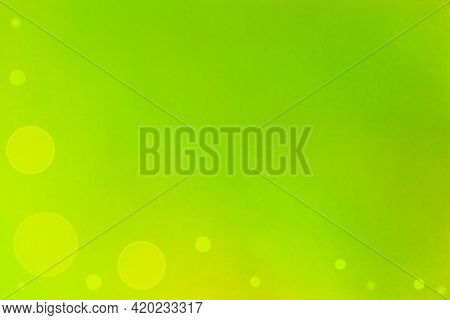 Blurred Gradient Yellow-green Background. The Concept Of Natural Elements, Gradient. Abstract Bokeh