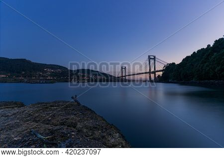 Rande Bridge In The Blue Hour, Vigo, Galicia