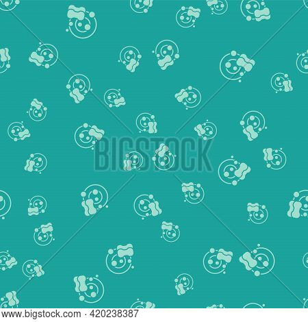Green Washing Dishes Icon Isolated Seamless Pattern On Green Background. Cleaning Dishes Icon. Dishw
