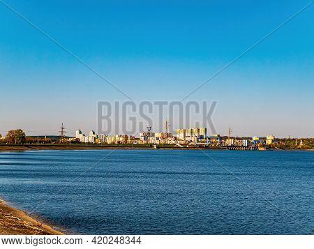 Artificial Reservoir Of The Kiev Hydroelectric Power Station. Kiev Sea. The City Of Vyshgorod. Dnepr