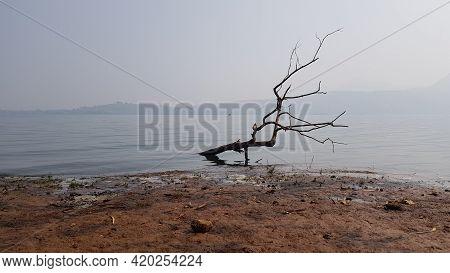 Pavana Lake Side View. Pavana Lake Is Located In Lonavala, A Hillstation Near Maharashtra, India