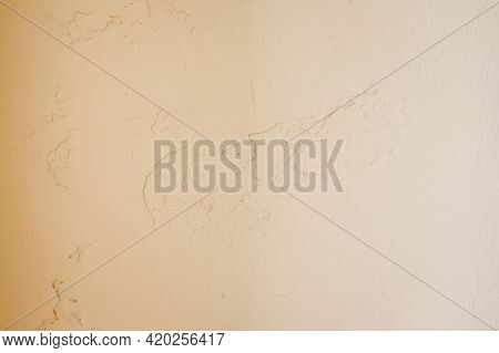 Bright Grunge Wall Texture. Grunge Vintage Stone Wall Background Texture With Pale Pink Shell Textur