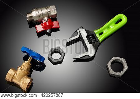 The Wrench Is The Main Tool Plumbing At Repair Plumbing