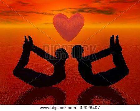 Yoga Love - 3D Render