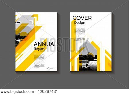 Cover Yellow Brochure   Background Abstract Modern Design Modern Book Cover Cover  Template,annual R