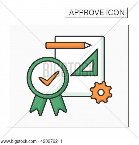 Approve Project Color Icon. Preparation, Submittal, And Approval Of Plans And Specifications. Accept
