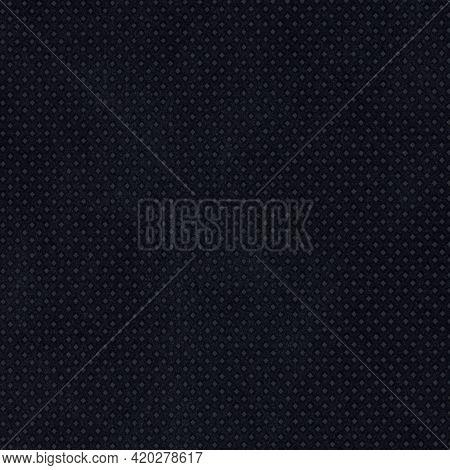 Black Nonwoven Polypropylene Fabric Texture Background