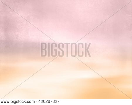 Watercolor background - abstract dreamy sky and landscape with pastel color gradient