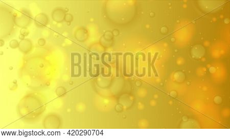 Yellow golden bokeh lights particles abstract background