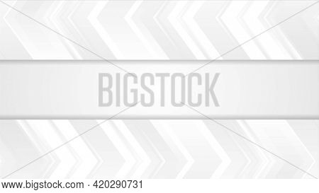 Grey tech abstract corporate arrows background