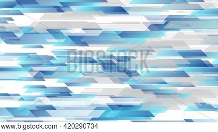 Blue grey technology geometric abstract background