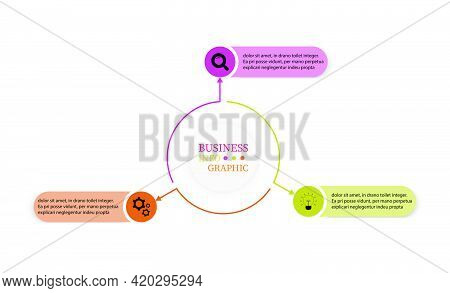 Planning Presentation Business Infographics Template With 3 Steps. Thin Line Elements Infographic De
