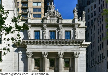 New York, New York - Apr 24, 2021: Appellate Division Courthouse Of New York State By Madison Square
