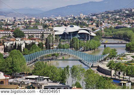 Tbilisi, Georgia - 04 May 2013: The New Bridge In Tbilisi City, Georgia