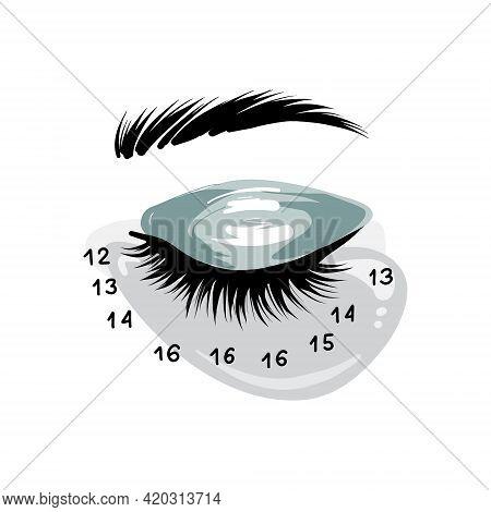 Eyelash Extension Art, Lash Mapping Beauty Cosmetics Treatment, Professional Beauty Branding Social