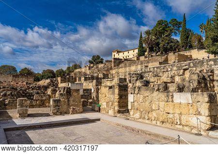 Cordoba, Spain - November 01, 2019: Palace Of Medina Azahara, Arab City Founded In The Year 936 By A