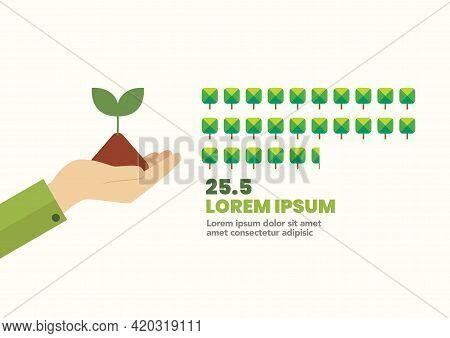 Planting Tree Infographic. Vector Illustration. Graphic Design