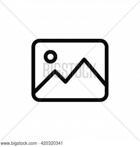 Gallery Icon Isolated On White Background. Gallery Icon In Trendy Design Style For Web Site And Mobi