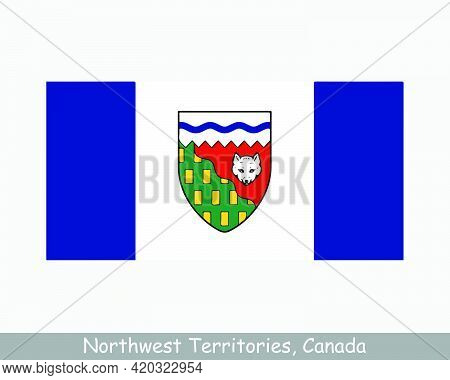 Northwest Territories Canada Flag. Canadian Territory Banner. Flag Of Nt, Ca. Eps Vector Illustratio