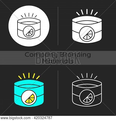 Branded Light Reflective Armband Dark Theme Icon. Special Band For Working Out At Night. Uniquely Cr