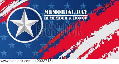 Memorial Day Background. National American Holiday Illustration.