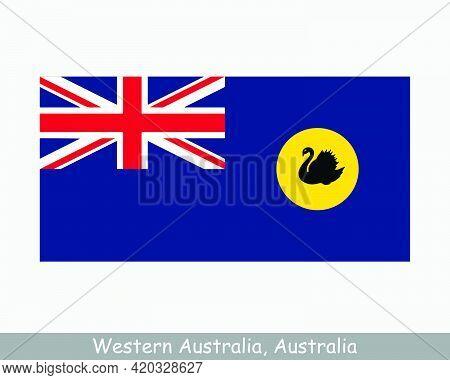 Western Australia Flag. Flag Of Wa, Au. Australian State Banner. Eps Vector Illustration File