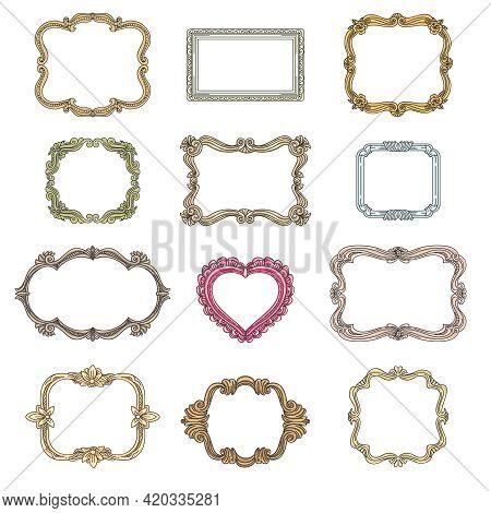 Vintage Decorative Frames. Decoration Element, Ornament Decorative Frames For Wedding, Vintage Frame