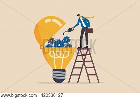Maintenance Brain To Generate Idea Or Creativity And Innovation To Invent New Business Ideas Concept