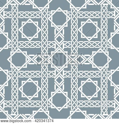 Arabic Seamless Pattern With Intersecting Stripes, Islamic Lines Pattern. Decor Arabic, Seamless Pat