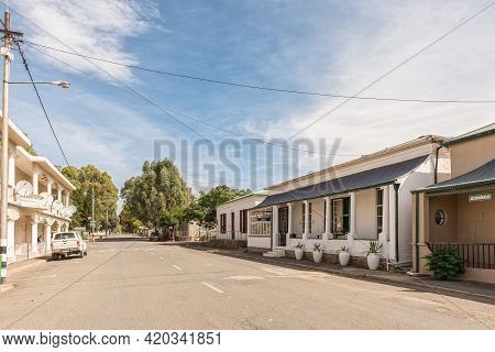 Richmond, South Africa - April 2, 2021: A Street Scene, With Historic Buildings, In Richmond In The