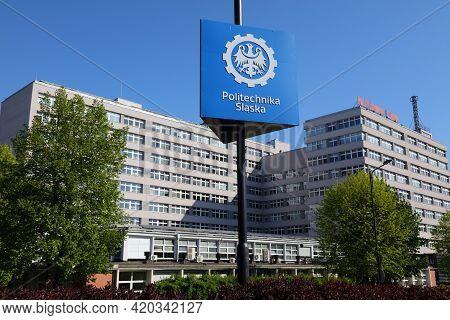 Gliwice, Poland - May 11, 2021: Silesian University Of Technology (politechnika Slaska) In Gliwice.