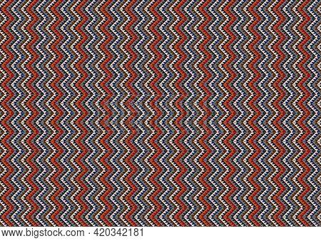 Zigzag Geometric Pattern. Mexican Blanket Seamless Vector Pattern. Ethnic Aztec Navajo Ornament. Sou