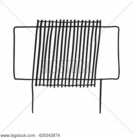 Inductor Coil Icon. Hand Drawn Sketch Design. Vector Illustration.