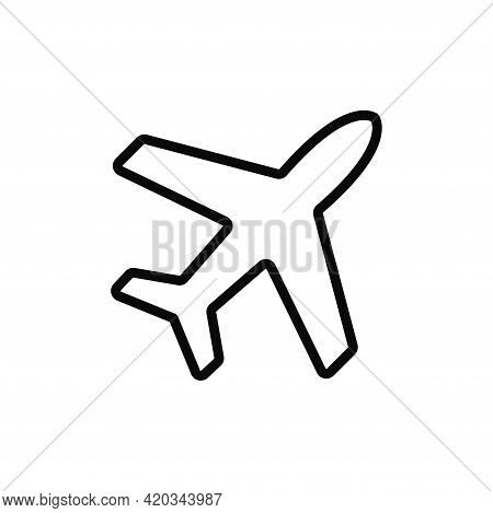 Airplane Icon Isolated On White Background. Airplane Icon In Trendy Design Style For Web Site And Mo