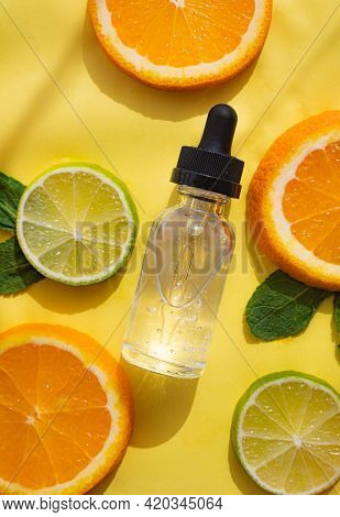 Hyaluronic Acid And Citrus Fruits . Cosmetic Procedures. Healthy Skin. Skin Care. Citrus Oil. Yellow