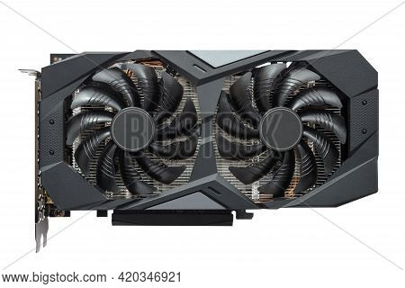 Computer Gaming Graphics Card Isolated On White Background