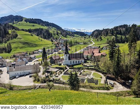 Fischenthal A Small Village In The Zurich Oberland. Beautiful Toesstal With A Wonderful View Of The