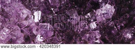 Amethyst gemstone crystal macro photography