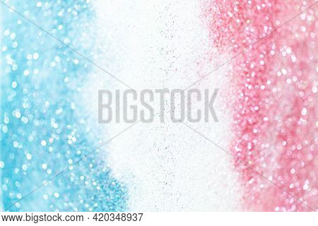 Pink and blue glittery background