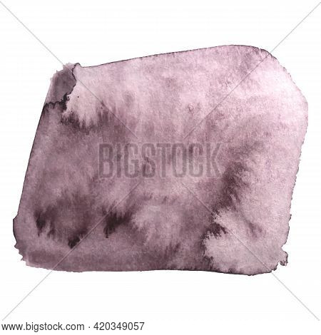 Grunge Watercolour Background Texture On White. Vector Graphic