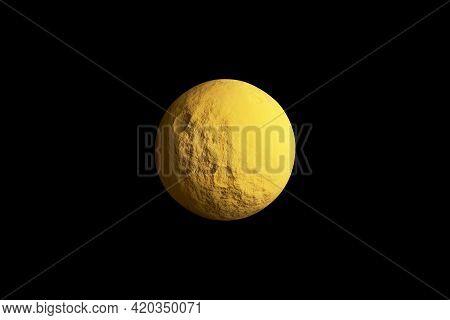 Full Moon On The Sky At Midnight 3d Illustration.