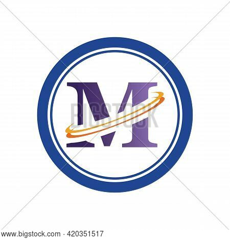 Letter M Business Corporate Abstract Unity Vector Logo Design Template