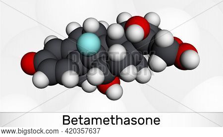 Betamethasone, Molecule. It Is Synthetic Corticosteroid, Glucocorticoid With Metabolic, Immunosuppre