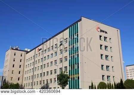 Jastrzebie Zdroj, Poland - May 11, 2021: Headquarters Of Jsw (jastrzebska Spolka Weglowa) In Jastrze