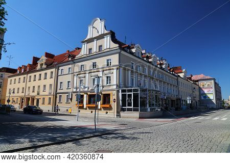 Raciborz, Poland - May 11, 2021: Old Town Of Raciborz City, Poland. Raciborz Is An Important City In